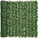 YQing künstlicher Efeu Sichtschutz, künstlicher Heckenzaun und künstlicher Efeu Weinblattdekoration für Außendekoration, Garten, (1 x 4 Meter)