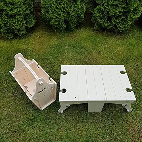 BKPP Klappbarer Picknickkorb-Tisch,...