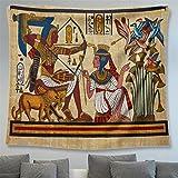 Tapiz Mural Egipcio Antiguo Impresión Colgante De Pared Sala De Estar Dormitorio Decoración De La Pared Toalla De Playa Estera De Yoga Tela De Fondo,L/200x150cm,Aajgt04