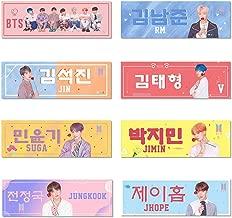 Chutoral Kpop BTS Banners, Kpop Blackpink EXO GOT7 NCT Stray Kids Hang Up Poster Concert Airport Fabric Banner Tempo Album Hand Holder Slogan Poster Fans Gift(8 Set)