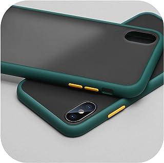 Wvnkx for Redmi Note 8 8T 7 6 5 4 4X K20 Pro 8A 7A 6AラグジュアリーマットハードPCケース(for Xiaomi Mi 9 9T CC9 CC9E Note 10 A3 Lite用)-Dark Green-for Redmi Note 4
