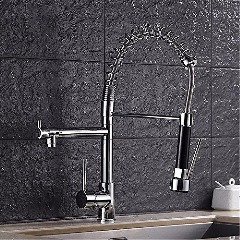 Bijjaladeva Wasserhahn Bad Wasserfall Mischbatterie Waschbecken Armatur für Küche Wasserhahn Pull-Down-Feder Kalt und Warm Wasser Einzelne Bohrung Einzigen Griff Waschbecken schwen