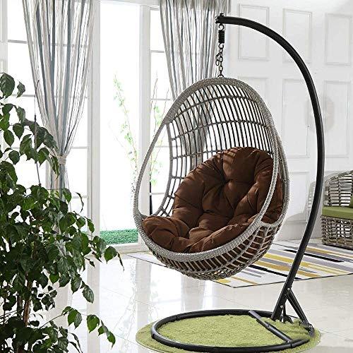 DFGH Cojín para columpio engrosamiento Cojín para sillón colgante Cojín para silla de hamaca Huevo Jardín Interior Exterior Algodón extraíble y lavable, 90 * 120 cm (Color: G)