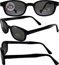 Pacific Coast The Original KD's Biker Shades By PCSUN Black Frames +1.50 Magnification Smoke Lenses,Small