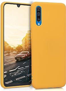kwmobile telefoonhoesje compatibel met Samsung Galaxy A50 - Hoesje voor smartphone - Back cover in honinggeel