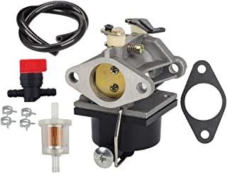 HIFROM Carburetor with 698183 Shut Off Valve 493629 Fuel Filter Fuel Line for Tecumseh OHV125 OHV130 OVH135 Replace 640065A 640065