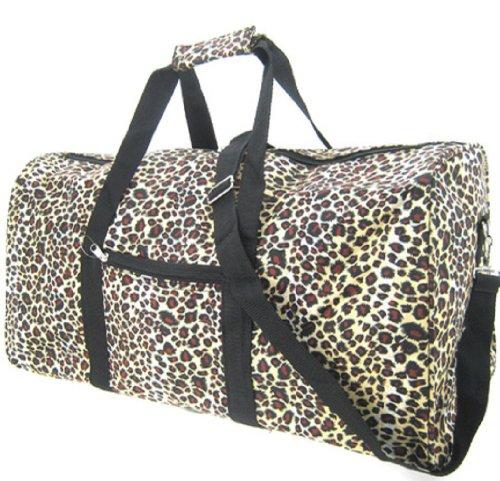 World Traveler Leopard Gym Duffle Bag 21-inch