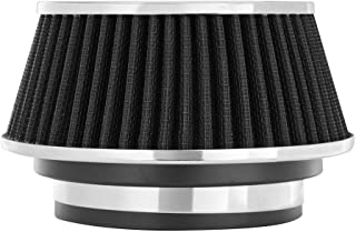 Spectre Performance 8161 Universal Clamp-On Air Filter: Round Reverse Tapered; 3 in/3.5 in/4 in (102 mm/89 mm/76 mm) Flange ID; 2.625 in (67 mm) Height; 6 in (152 mm) Base; 4.75 in (121 mm) Top