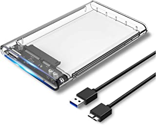 CMDZSW 2,5 inch harde schijf behuizing SATA 3.0 naar USB 3.0 5 Gbps 6TB Ondersteuning UASP HD Externe Type C 3.1 SSD harde...