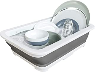 Home Intuition Collapsible Large Pop Up Portable Dish Tub Washing Basin, White