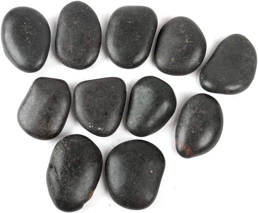 FANTIAN 5 Pounds Black Natural Decorative River Pebbles – 1.5-2.5 Inch Black Ornamental River Pebbles for Garden Landscaping, Home Décor, Outdoor Paving, Fountain Decoration.