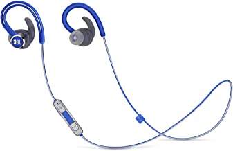 JBL Reflect Contour 2 Wireless Sport in-Ear Headphones with Three-Button Remote and Microphone - Blue