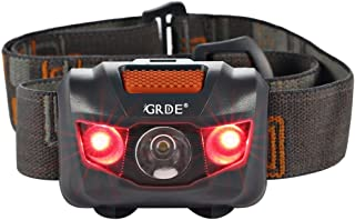 Headlamp, Ultra Bright LED Headlight 4 Mode Outdoor Flashlight, White & Red LEDs,..