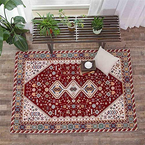 Alfombra de dormitorio de estilo moderno nórdico, alfombra de tela jacquard antideslizante, alfombra rectangular para el hogar, sala de estar, dormitorio, sofá, 160 x 230 cm