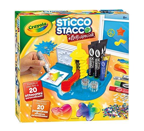 Crayola- Sticco Stacco Effetti Speciali Set per Creare Attacchini in Gel, 6 - 12 anni, 25-7094