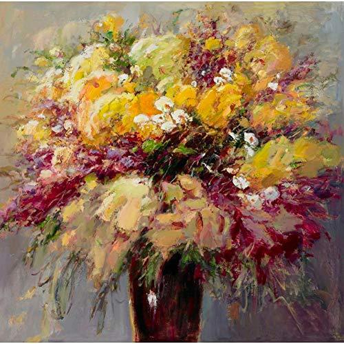 suhang Hd-print abstracte bloemen in de vaas olieverfschilderij op canvas moderne poster muurkunst schilderij voor bank woonkamer decoratie