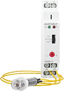 GAEYAELE NEW GRB8-01 Din rail Twilight Switch Photoelectric Timer Light Sensor Relay AC110V-240V