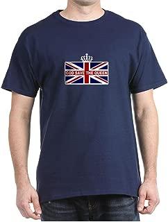 God Save The Queen Dark T Shirt 100% Cotton T-Shirt Navy
