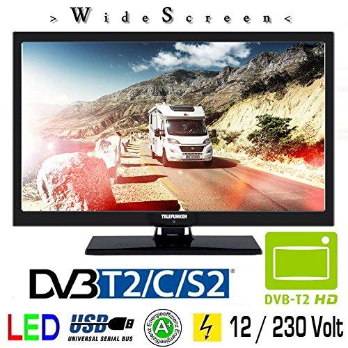 Telefunken T22X720 MOBIL LED Fernseher 22 Zoll DVB/S/S2/T/T2/C USB 12V 230V Wohnmobil Camping KFZ LKW Truck und Zuhause