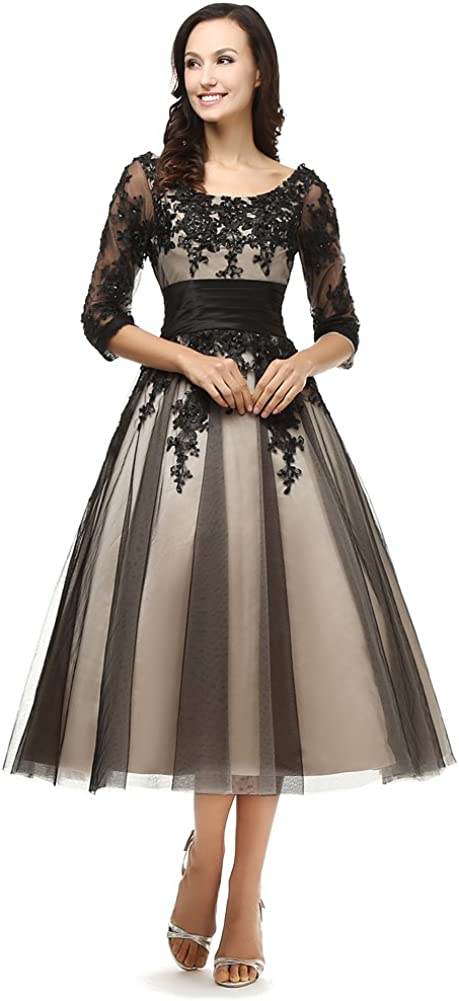 Kivary? Women's Today's only Sheer Vintage 1 2 Sleeves 67% OFF of fixed price Half Short Champagne a