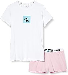 Tommy Hilfiger Knit PJ Set (SS+Short) Conjuntos de Pijama para Niñas