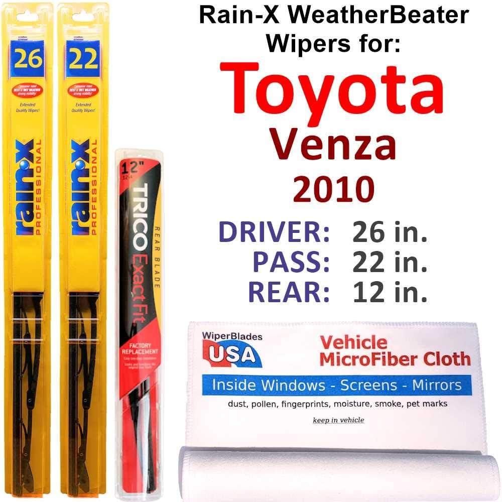 Rain-X WeatherBeater Wipers for 2010 セール特価品 オープニング 大放出セール Toyota Rai Rear Set Venza w