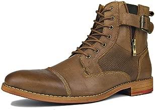 OTTO ZONE Cowboy Boots for Men Chukka Zip Up Riding Biker Boots