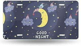 XIEDEC Good Night The Cute Sleeping 6x12inchs Feel Metal Tin Sign Plaque for Home,Bathroom and Bar Wall Decor Car Vehicle License Plate Souvenir Car Decoration