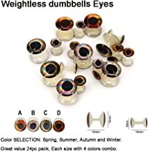 4 sizes BarBell Dumbell Jig HARELINE Painted Lead Eyes Fly Tying 4 colors