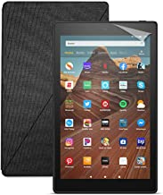 Fire HD 10 Tablet (32 GB, Black, With Special Offers) + Amazon Standing Case (Charcoal Black) + Nupro Screen Protector (2-...
