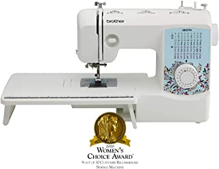 Brother XR3774 FullFeatured Quilting Machine with 37 Stitches, 8 Sewing Feet, Wide Table, and Instructional DVD, Red