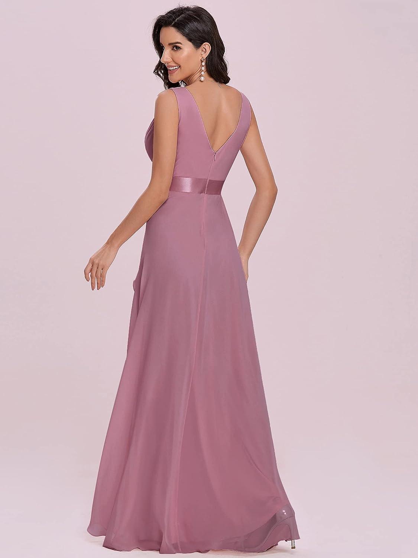 Ever-Pretty Women's Spaghetti Straps V Neck Ruffle Chiffon Bridesamid Dresses 0102