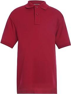 Tommy Hilfiger Kids` Long Sleeve Pique Co-ed Polo Collar Shirt, Boys & Girls School Uniform Clothes