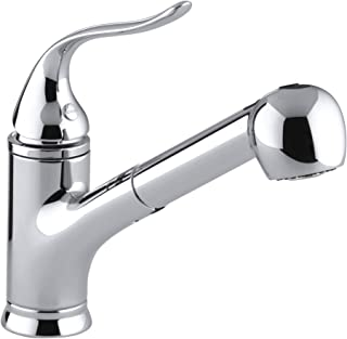 KOHLER Coralais(R) Single Three-Hole Sink Pull-Out Matching Color spray head, 9