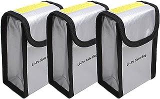 O'woda Upgraded más Grueso ignífugo a Prueba de explosiones Lipo batería de Manga de Bolsa de Seguridad Lipo Battery Guard Bolsa Bolsa de protección de Carga para dji Phantom 3/4 (3 Piezas)