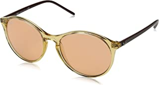 RB4371 Round Sunglasses, Transparent Light Brown/Orange, 55 mm