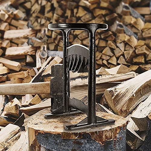 CRZJ Brennholzverteiler - Manueller Brennholzverteiler Keilbeil - Handgefertigter Anzündholzspalter aus Gusseisen