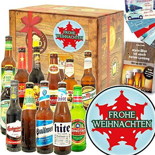 Tannenbaum | Geschenkset zu Weihnachten für Männer | Bier Paket Welt