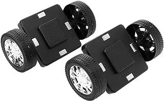 2pcs Magnetic Wheels for Magnetic Building Blocks Construction Toys (Black)