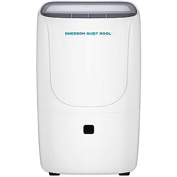 Emerson Quiet Kool 50-Pint Dehumidifier with Built-in Vertical Pump, White