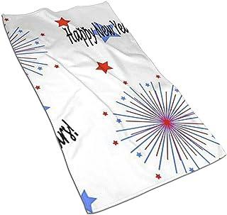 Snbin Felices Año Nuevo Toallas de Microfibra Toallas Toallas de Secado rápido Toallas Deportivas (40x70cm) Uso para Viajes, Fitness, Yoga