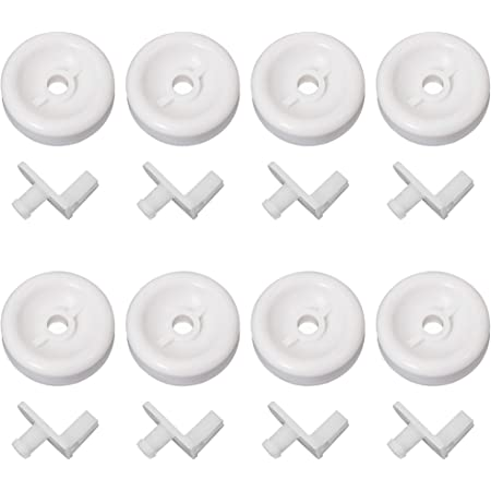 Compatible with WD35X21038 Lower Rack Roller Wheel UpStart Components Brand 8-Pack WD35X21038 Lower Rack Wheel Kit Replacement for General Electric PDW7980N10SS Dishwasher