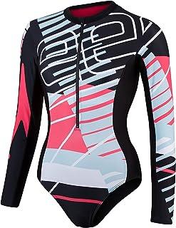 Speedo Women's Long Sleeve Wrap Back 1 Piece Swimsuit