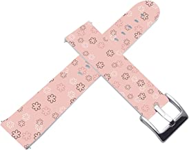 Leather Band for Huawei Fit Honor S1 & 18mm Leather Watch Band Quick Release for Zenwatch 2 1.45 for Withings Activité Activite Pop Steel for LG Watch Style Pink Small Floral