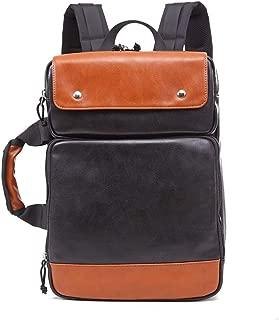 Rjj Retro Fashion Bag Backpack Men's Business Travel Portable Shoulder Bag Exquisite (Color : Yellow)