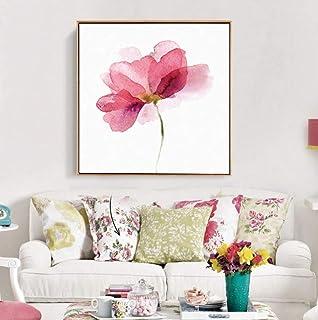 Peinture À l'huile 100% Peinte À La Main sur Toile,Hand Pink Peony Pictures Flowers Oil Painting Graphic Artwork Canvas Po...