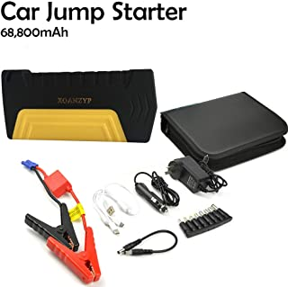 XOANZYP P051 12V 68800mAh Car Jump Starter Portable 4 USB Auto Engine Emergency Battery Charger Air Compressor Booster Power Bank 600A