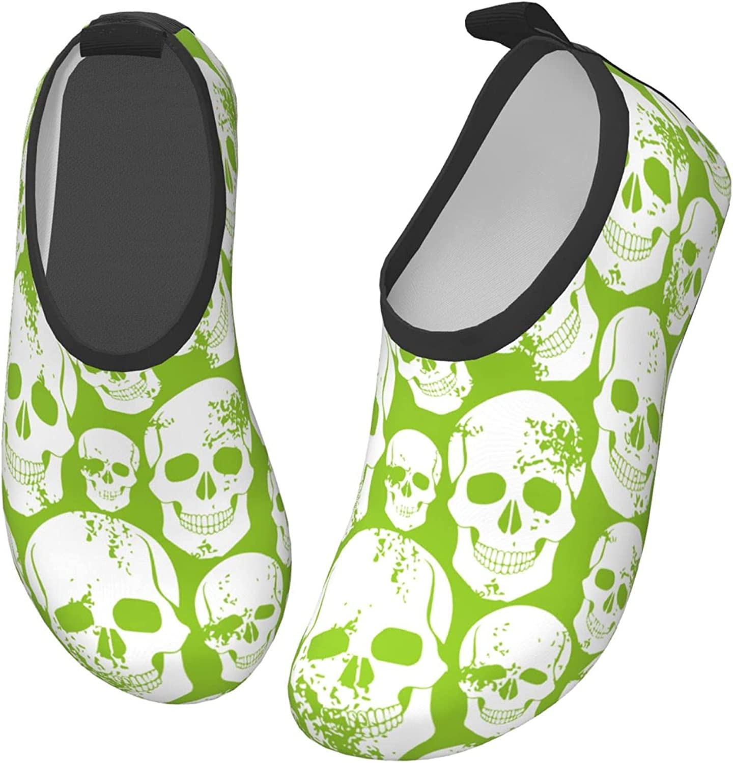 Smiling Skull Head Toddler Water Shoes Non-Slip Aqua Sports Shoes Barefoot Swim Shoes Beach Surf for Boys Girls