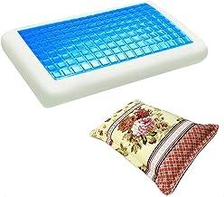 موون مخدة جل الطبية الباردة مقاس 70x40 سم مع غطاء وسادة فارغ مقاس 75x50 سم ، KPCM-011