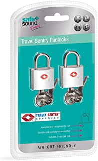 Safe and Sound Unisex's Key Padlocks, SA6044, Silver, One Size